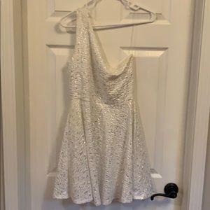 White prom off shoulder dress